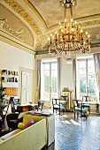 Lobby des Boutique-Hotels 'Ad Astra', Florenz, Italien