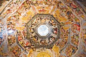 Frescos on the interior of the dome in the Santa Maria del Fiore Cathedral, Florence, Italy