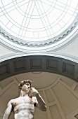 The David statue by Michelangelo at the Galeria dell' Accademia, Florence, Italy