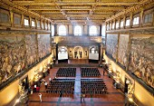 The Hall of the Five Hundred at the Palazzo Vecchio in Florence, Italy