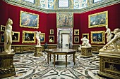 Artworks in the Tribuna of the Uffizi, Florence, Italy