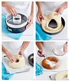 Doughnut-Eiscreme-Torte zubereiten
