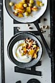 Caramelised fruit salad and Greek yoghurt