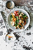Tofu stir fry with vegetables (vegan)