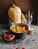 Pumpkin and chicken soup