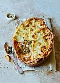 Lasagne mit Grünkohl und Lauch