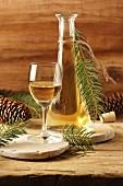 Spruce needle liqueur