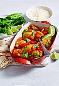 Peri Peri Hähnchen mit Brokkolini und Reis