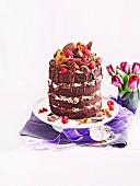Honeycomb-Choclayer Cake
