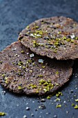 Flatbreads with herbs and salt