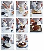 Schokoladenganache-Tarte mit weisser Schokoladencreme zubereiten