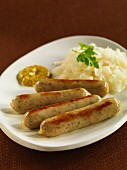 Bavarian bratwurst with sauerkraut