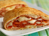Calzone, sliced