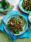 Asian Greens - Stir-Fried Beef and Gai Lan