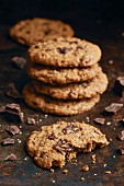 Chocolate Chip Cookies mit Meersalz