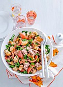 Tuscan Bread Salad with Tuna
