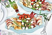 A luxurious salad platter (appetizer)