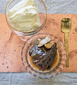 Sticky toffee pudding with ginger