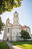 Exterior view of Ottobeuren Abbey in the Allgäu region, Bavaria, Germany