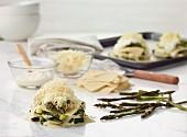 Ingredients and preparation of asparagus lasagne