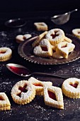 German cookies (butter biscuits filled with jam)