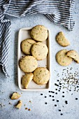 Spiced cookies sables with cumin and black pepper