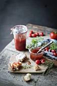 Homemade tomato marmalade