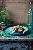 Erdbeer-Quinoa-Maki mit Minze und Schokolade