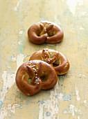 Three soft pretzels