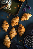 Croissants with almond flakes