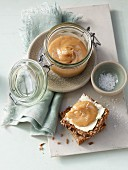 Milk and caramel spread with sea salt