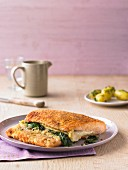 Salmon Cordon Bleu with gouda and spinach