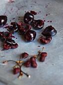 Roasted black cherries