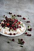 Summer Berry Pavlova Cake