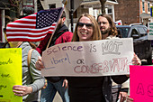 March for Science protest, Michigan, USA