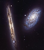 Spiral galaxies NGC 4302 and NGC 4298, HST image