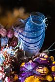 Blue club tunicate on reef