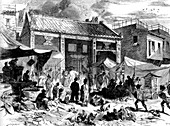 19th Century Chinese market place, illustration