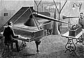 19th Century music recording, illustration
