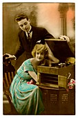 Lovers with gramophone'