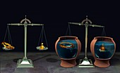 Archimedes' principle of hydrostatics