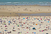 Holidaymakers on a beach
