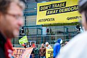 Demonstration against CETA