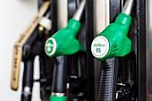 Unleaded petrol pump dispensers