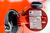 Car fuel tank cap and cover