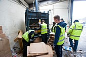 Recycling centre workplace charity, Scotland, UK