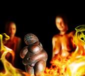 Venus female figurine, illustration