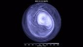 North polar vortex and sudden stratospheric warming, 2013