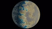 TRAPPIST-1d exoplanet, animation