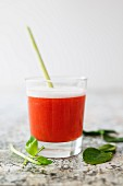 Chilled tomato soup with lemongrass and Noilly Prat